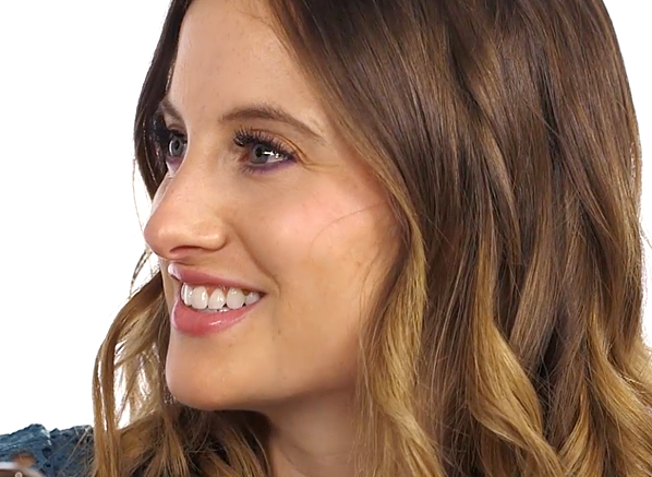 Rosie Fortescue Purple Eyes SMiling