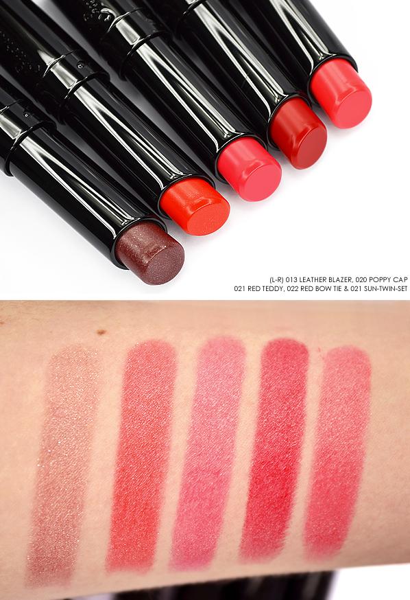 Guerlain La Petite Robe Noire Lipstick - Leather Blazer - Poppy Cap - Red Teddy - Red Bow Tie - Sun Twin Set