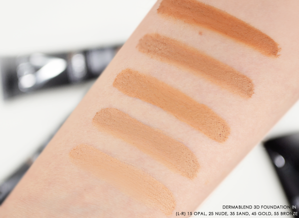 Vichy Dermablend 3D Foundation Swatches