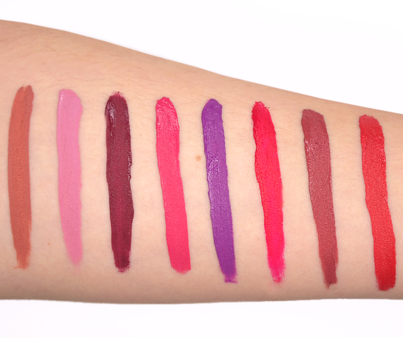Laura Geller Lip Fifty Kisses Lip Locking Liquid Color Swatches and Colours