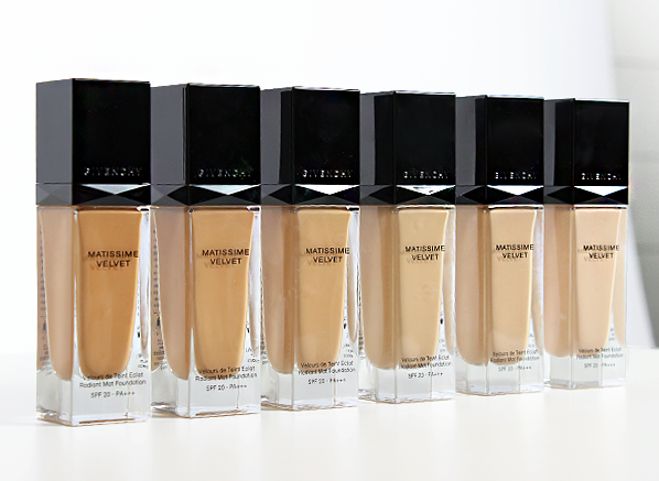 Givenchy Matissime Foundation Swatches