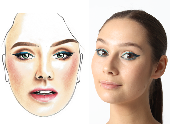 MAKE UP FOR EVER Gradient Liner Get The Look Before and After