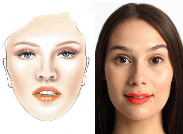 MAKE UP FOR EVER Peach Lip Get The Look Before and After