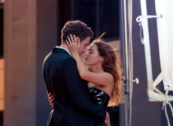 James Jagger and Mathilda Lutz for Emporio Armani Stronger With You and Because It's You Fragrances For Men and Women