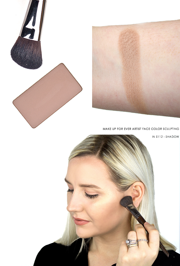 MAKE UP FOR EVER Artist Face Color Sculpting Powder in S112 - Shadow Swatch On Skin, Arm and Product Image