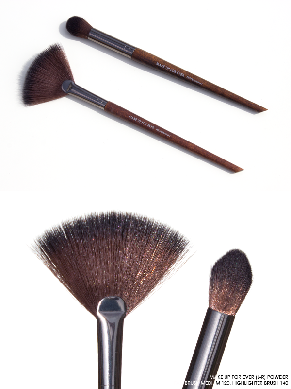 MAKE UP FOR EVER Highlighter Brushes in 120, 140