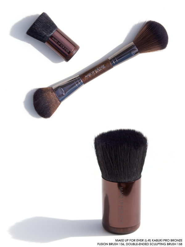 MAKE UP FOR EVER Sculpting Brushes in 136, 158