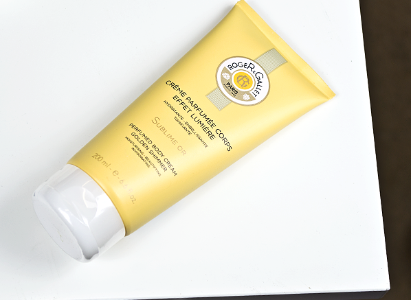 Roger & Gallet Bois d'Orange Sublime Or Perfumed Body Cream Golden Shimmer Product Shot