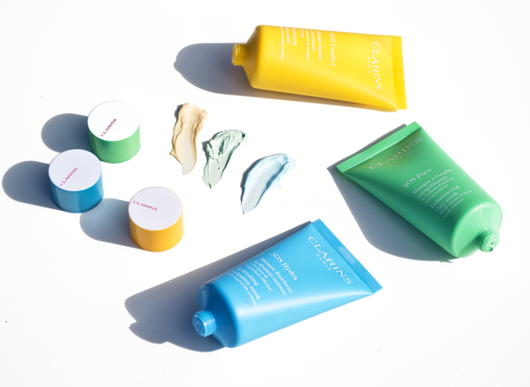 The Clarins SOS Face Mask Collection