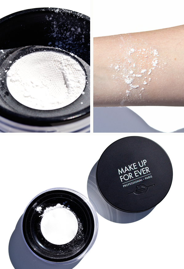 MAKE UP FOR EVER Ultra HD Loose Powder Image of Texture and Product Swatch