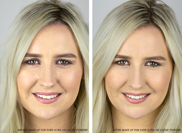 Before-And-After-Using-The-MAKE-UP-FOR-EVER-Ultra-HD-Loose-Face-Powder