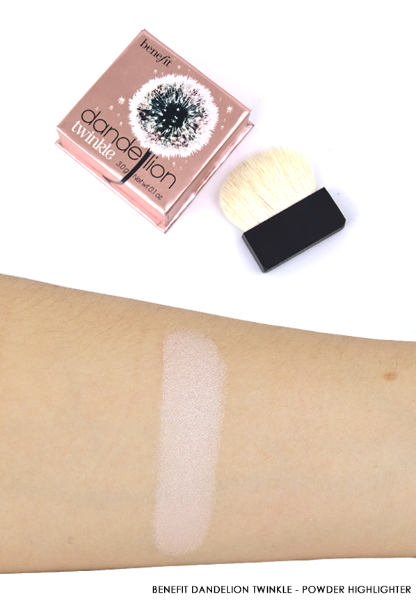 Benefit Dandelion Twinkle - Powder Highlighter Swatch and Product Image