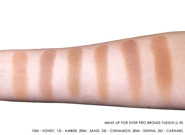 For Ever Pro Bronze Fusion Swatches