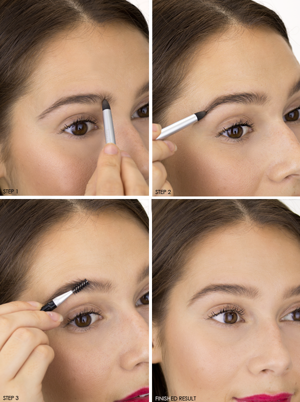 Benefit-FoolProof-Brow Powder Step-By-Step with 03 - Medium