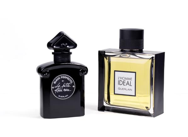 Guerlain L'Homme Ideal and La Petitie Robe Noire Black Perfecto
