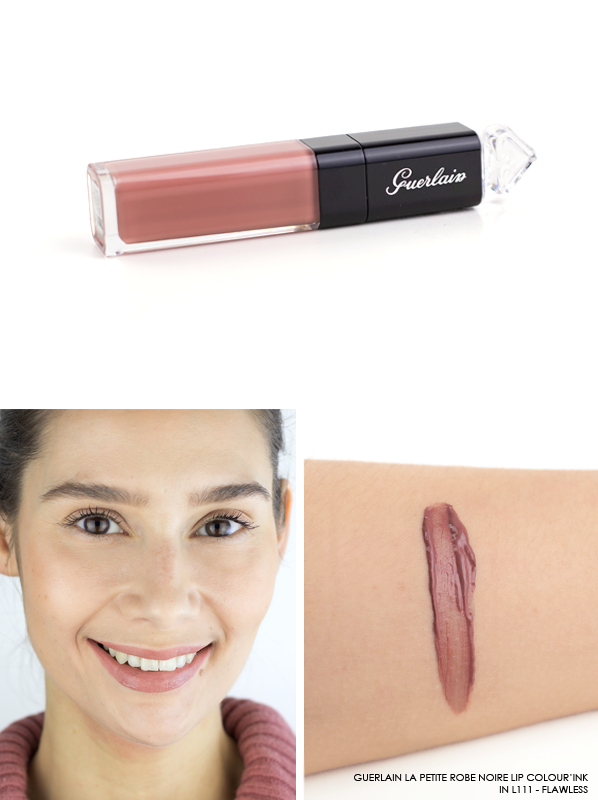 GUERLAIN-La-Petite-Robe-Noire-Lip-Colour'Ink-Liquid-Lipstick-Swatch-L111-Flawless
