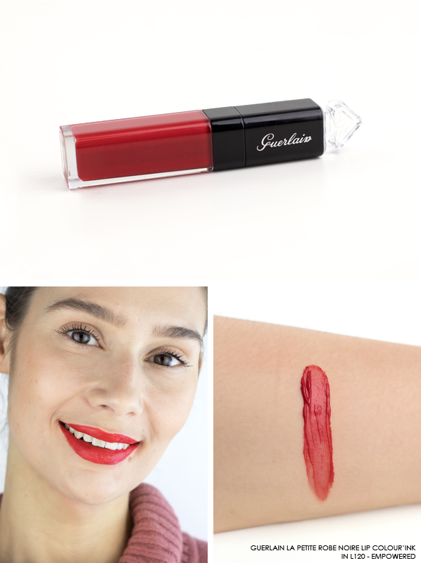 GUERLAIN-La-Petite-Robe-Noire-Lip-Colour'Ink-Liquid-Lipstick-Swatch-L120-Empowered