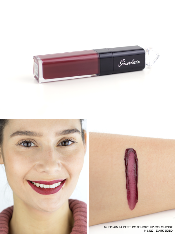 GUERLAIN-La-Petite-Robe-Noire-Lip-Colour'Ink-Liquid-Lipstick-Swatch-L122-Dark-Sided3