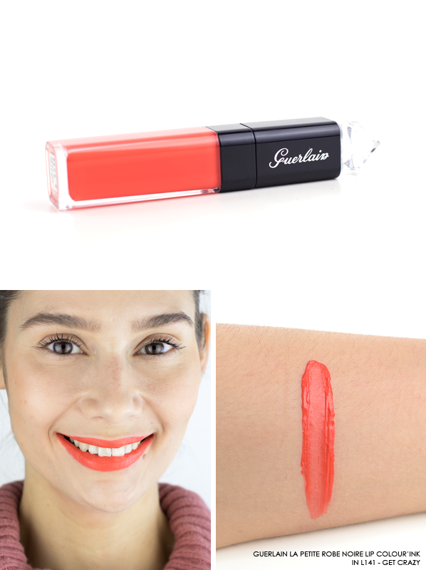 GUERLAIN-La-Petite-Robe-Noire-Lip-Colour'Ink-Liquid-Lipstick-Swatch-L141-Get-Crazy