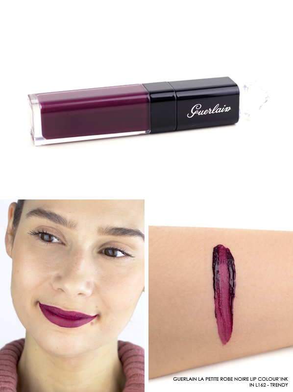 GUERLAIN-La-Petite-Robe-Noire-Lip-Colour'Ink-Liquid-Lipstick-Swatch-L162-Trendy