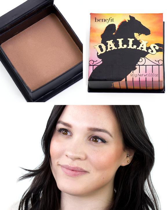 Benefit Box O Powder Blusher Bronzer Highlighter Dallas Swatch