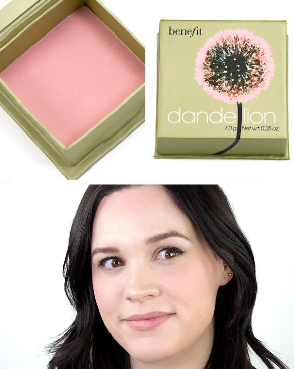 Benefit Box O Powder Blusher Bronzer Highlighter Dandelion Swatch