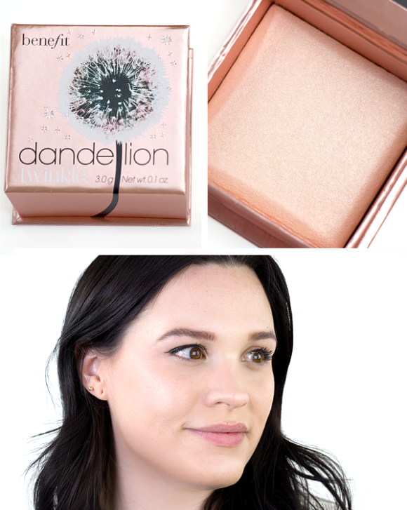 Benefit Box O Powder Blusher Bronzer Highlighter Dandelion Twinkle Swatch