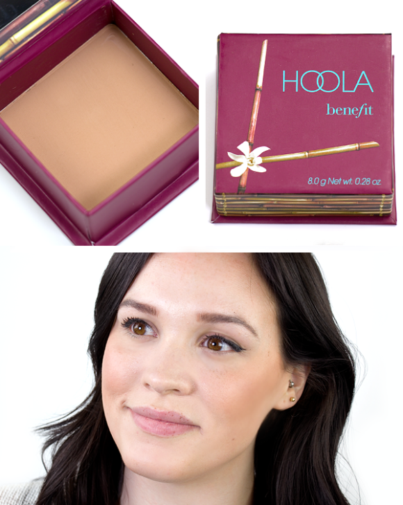 Benefit Box O Powder Blusher Bronzer Highlighter Hoola Swatch