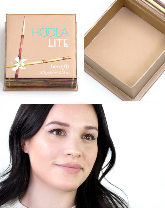 Benefit Box O Powder Blusher Bronzer Highlighter Hoola Lite Swatch