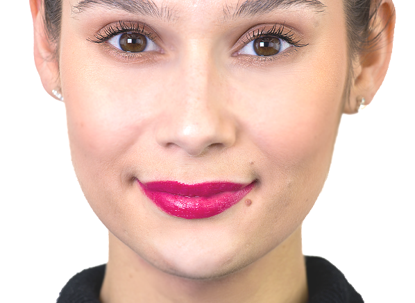 GIVENCHY Le Rouge Interdit Vinyl in African Raspberry on Lips