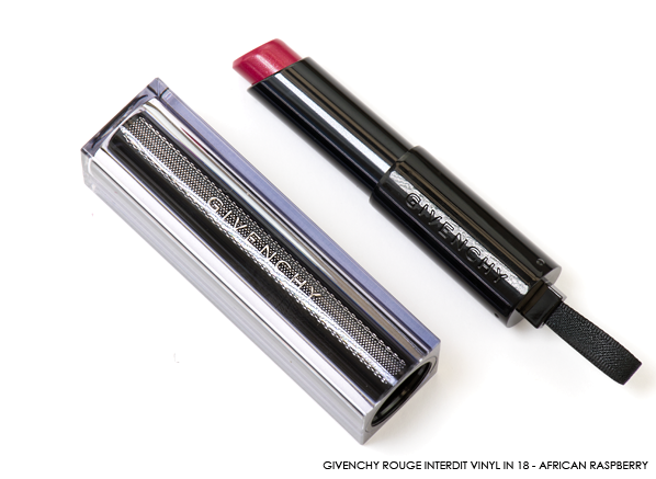 GIVENCHY Rouge Interdit Vinyl in 18 - African Raspberry