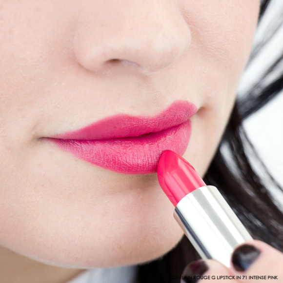Guerlain Rouge G Lipstick swatch 71 itnense pink