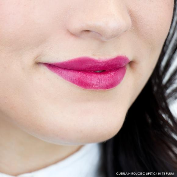 Guerlain Rouge G Lipstick swatch 78 plum