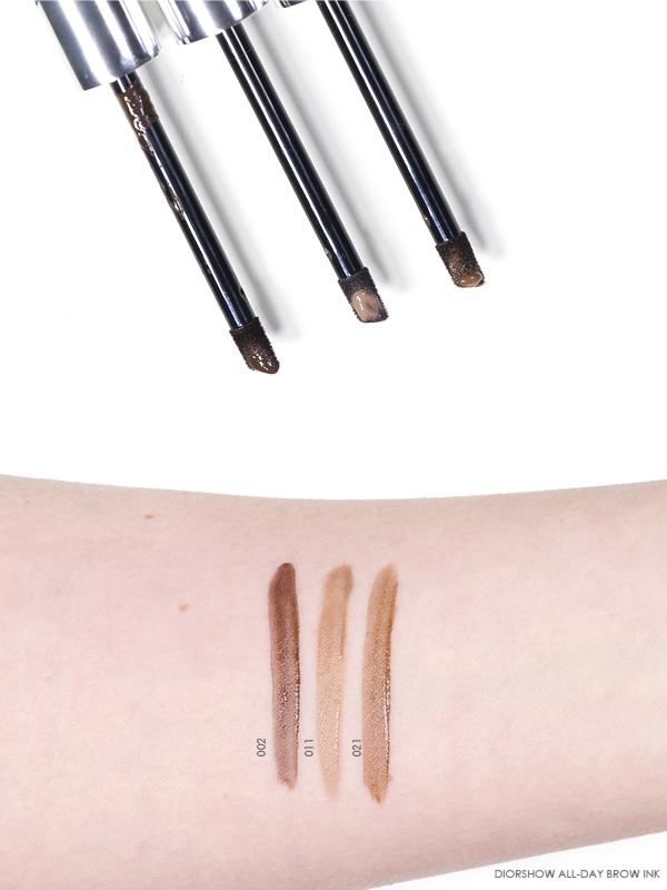Dior Diorshow All Day Brow Ink - 002 Dark - 011 Light - 021 Medium - Swatches