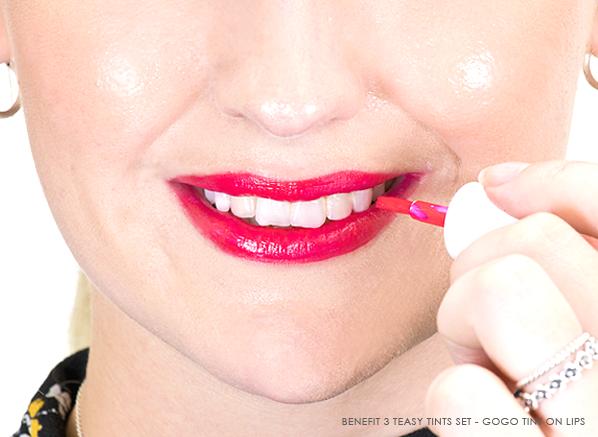 Benefit 3 Teasy Tints Set - Benefit Gogo Tint On Lips