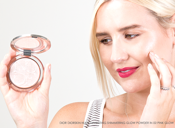Blog Chelsey Wearing DIOR Diorskin Nude Luminizing Shimmering Glow Powder in 02 Pink Glow