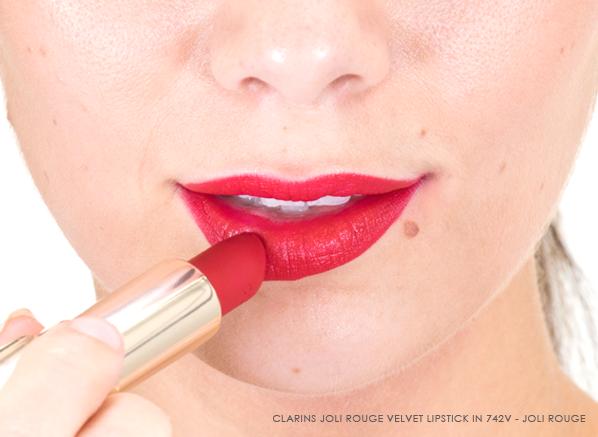 Clarins Joli Rouge Velvet Lipstick in Joli Rouge