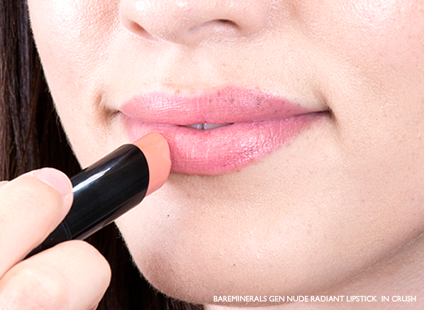 Emma-Wears-bareMinerals-Gen-Nude-Radiant-Lipstick-in-Crush