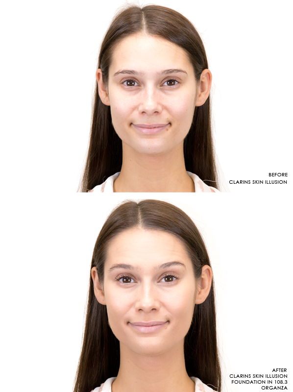 Before-And-After-Clarins-Skin-Illusion-Foundation-In-108-3-Organza