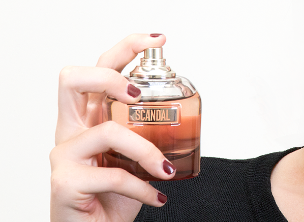 Jean Paul Gaultier Scandal By Night Eau de Parfum Intense Spray Bottle Close Up