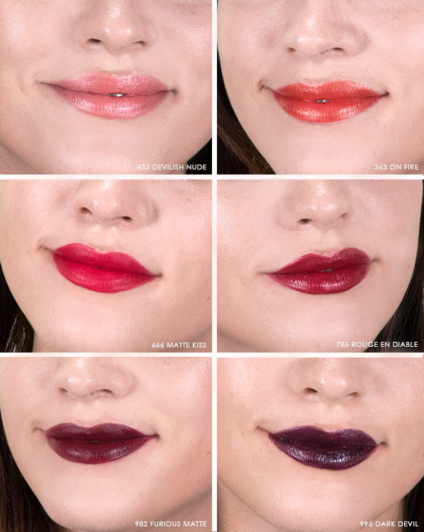 Dior en Diable Autumn Look Lipstick Swatches