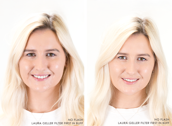 Laura-Geller-Flawless-Finish-Foundation-In-Buff-With-Without-Flash
