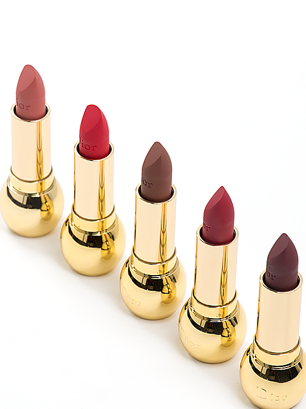 DIOR Diorific Mat Velvet Colour Lipstick in 360 Elegante, 550 Desirable, 620 Stunning, 760 Triomphante, 780 Lovely & 890 Audacieuse