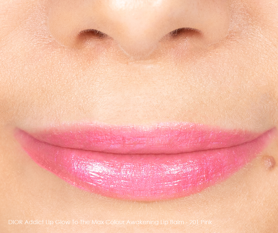DIOR Addict Lip Glow To The Max 201 Pink Swatch