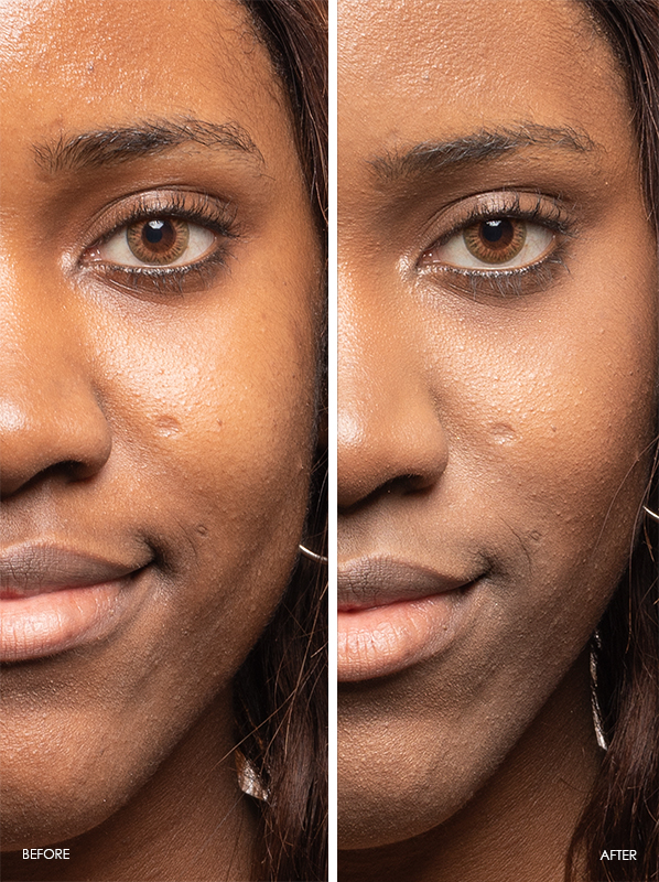 Yves Saint Laurent Touche Eclat High Cover Radiant Concealer Pen Before and After in shade 6 Mocha
