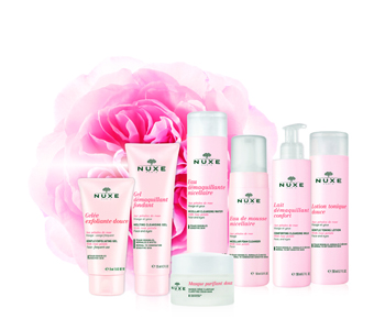 Nuxe Cleansers with Rose Petals