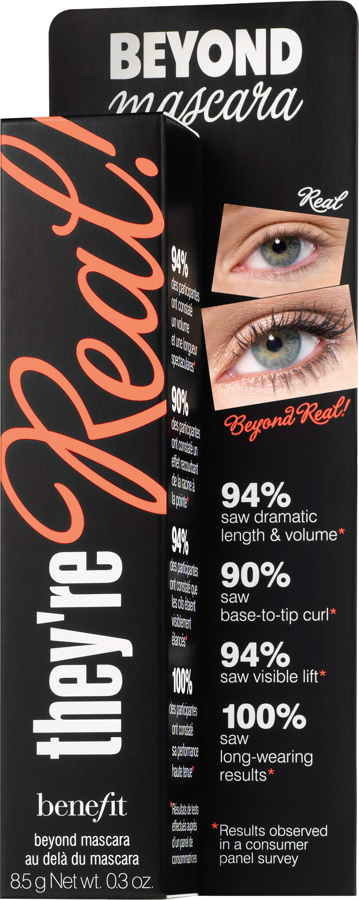 5692fd3639e ... Benefit they're Real! Lengthening Mascara 8.5g Jet Black Box ...