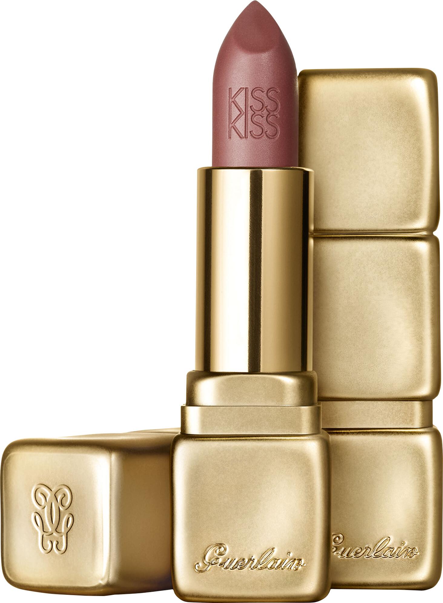 Guerlain KissKiss Matte Lipstick M347 Zesty Orange 0.12 oz