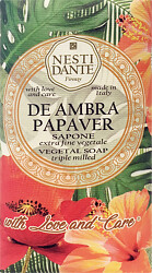 Nesti Dante With Love and Care De Ambra Papaver Soap 250g