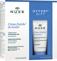 Nuxe Creme Fraiche de Beaute 8Hr Moisturising Rich Cream 30ml Gift Set